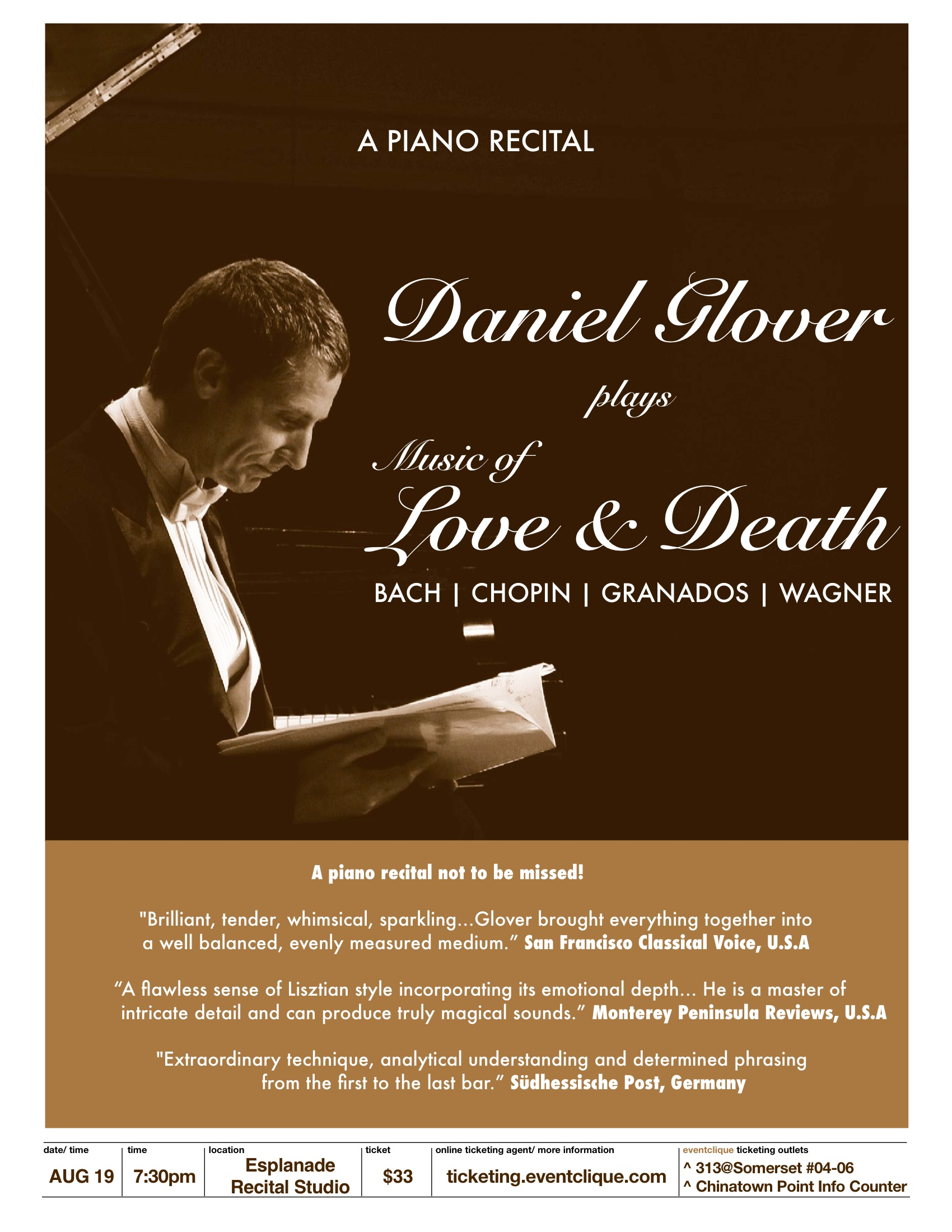 Daniel Glover: Music of Love and Death - The Flying Inkpot